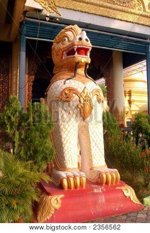 Mythical Lion Dhammikarama Burmese Buddhist Temple