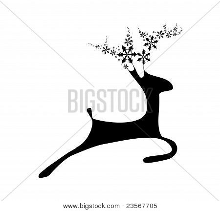 Deer with flake horns