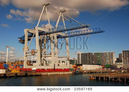 Auckland container terminal, New Zealand