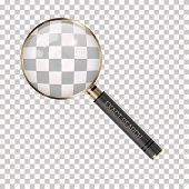 Vector Magnifier On A Transparent Background. Magnifying Glass Icon. Loupe As Exact Search Symbol. G poster