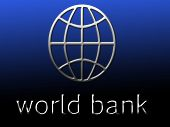 Symbol Of World Bank And World Bank Written On A Blackish Gradient. poster