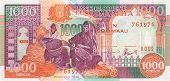 picture of shilling  - 1000 shillings 1996 banknote from Somalia Eastern Africa - JPG