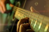 Play The Guitar, Man Is Playing The Guitar, Close Up poster