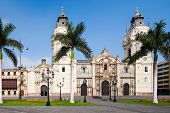 The Basilica Cathedral Of Lima Is A Roman Catholic Cathedral Located In The Plaza Mayor In Lima, Per poster