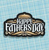 Vector Logo For Fathers Day poster