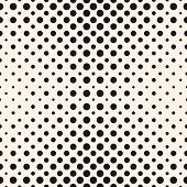 Halftone Dots Vector Seamless Pattern. Abstract Dotted Geometric Texture With Different Sized Circle poster