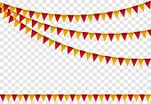 Party Flags, Colorful Flag Set Bunting For Happy Birthday, Celebration Decor, Decoration Elements Ca poster