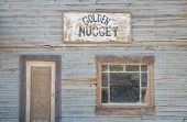pic of forty-niner  - Wooden building facade in an abandoned American western town - JPG