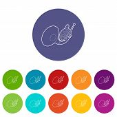 Brass Pipe Icons Color Set Vector For Any Web Design On White Background poster