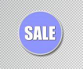 Summer Sale Sticker. Vector Illustration. Big Sale Round Banner. Sale Background. Sale Sticker. Eps1 poster