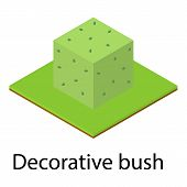 Decorative Bush Icon. Isometric Illustration Of Decorative Bush Vector Icon For Web poster
