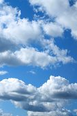 Blue Heaven With Beautiful White Clouds, Cloudy Sky poster