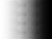 Radial Halftone Pattern Texture. Vector Black And White Radial Dot Gradient Background For Retro, Vi poster