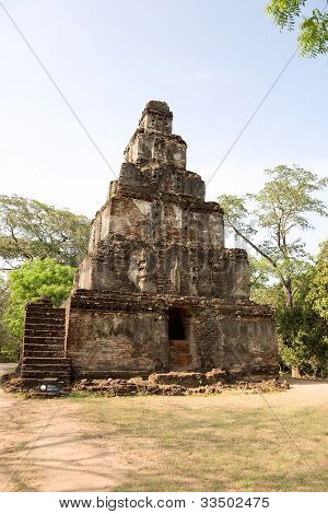 Ancient  Temple In Polonnaruwa- Medieval Capital Of Ceylon