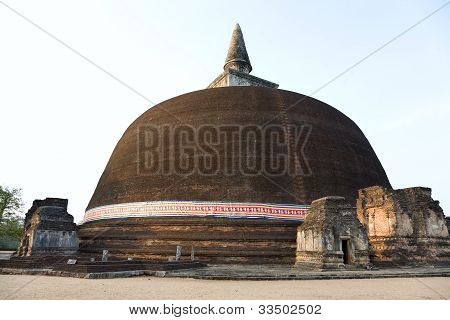 The Rankot Vihara Or The Golden Pinnacle Dagoba In Polonnaruwa, 12Th Century, Sri Lanka