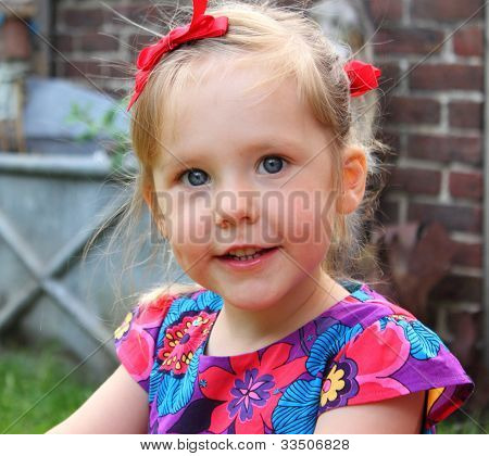Young girl with a great smile