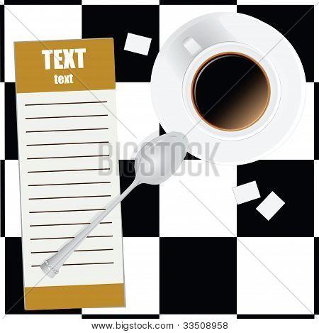 Portátil y café