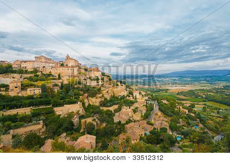 Gordes Provence Hilltop Stone Village Sunset H