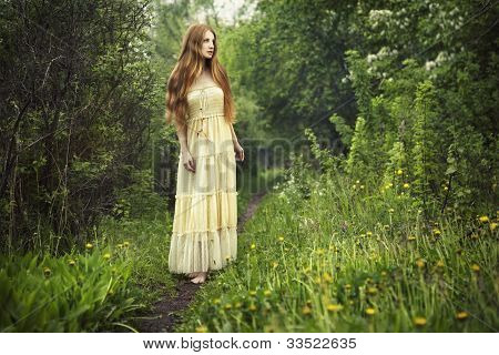 Photo Of Romantic Woman In Fairy Forest
