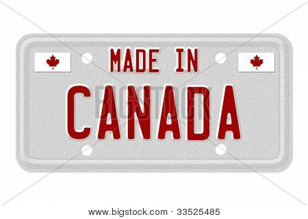 Made In Canada License Plate