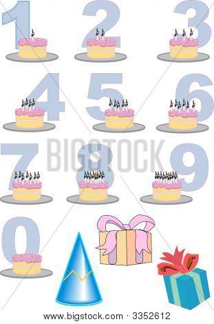 Birthday Number Cake Set