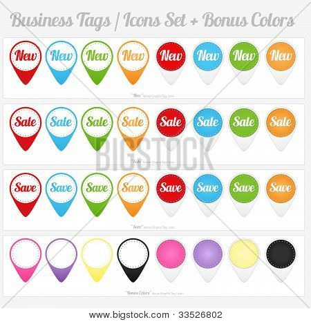 Sales Tags And Icons Set