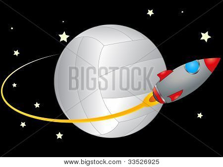 Volleyball And Spacecraft