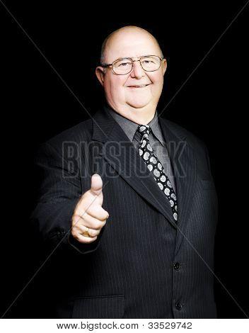 Enthusiastic Positive Senior Business Man
