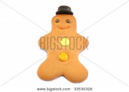 Gingerbread Man With Bowler Hat