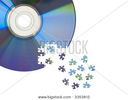 Cd / Dvd Cut By Jigsaw Puzzle