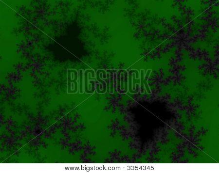 Dark Green Fractal Design Illustration Detailed Pattern