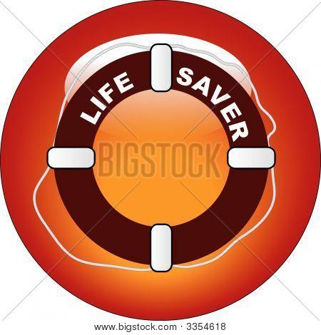 Button Life Preserver.