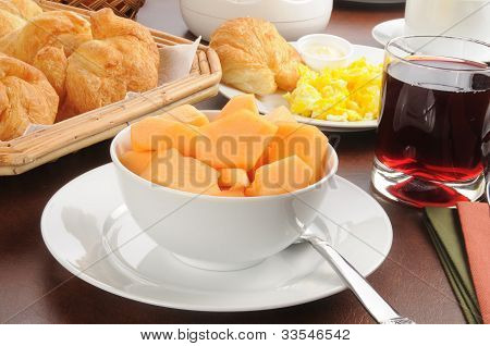 Continental Breakfast With Cantaloupe