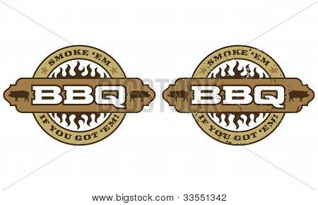 Barbecue Symbol with flames