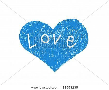 Abstract Blue Love Symbol