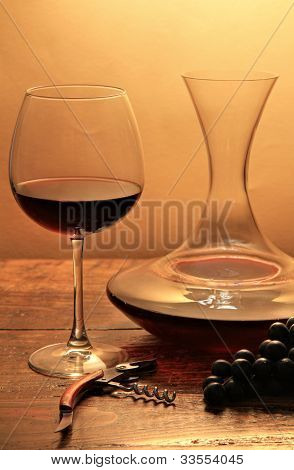 Wine Glass And Decanter