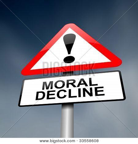 Moralischen Niedergang Konzept.