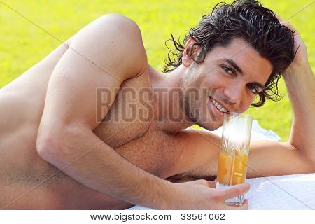 Smiling Young Man Relax
