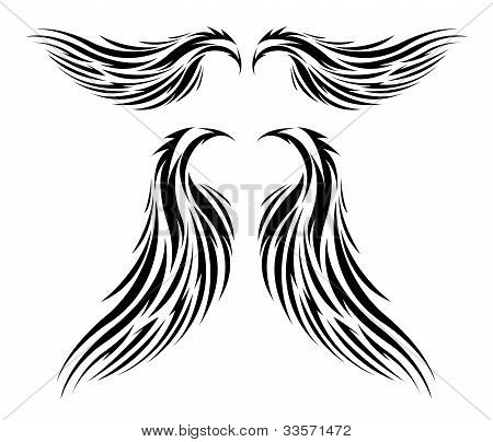 tattoo tribal vector wings