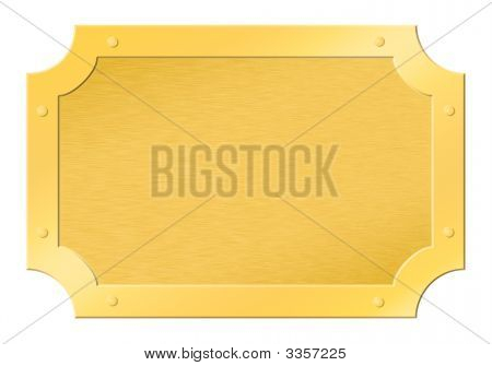 Brushed Golden Framed Tablet Cutout