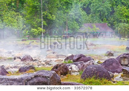 Hot Spring At Chae Son National Park