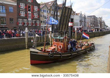 Ship, Jan De Sterke Leaving Harbor