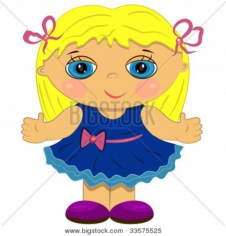 clapping baby girl. doll icon