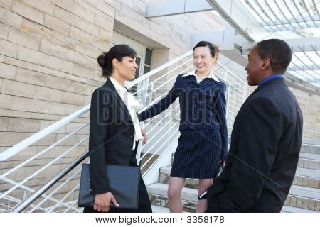 Diverse Business Team At Office Building