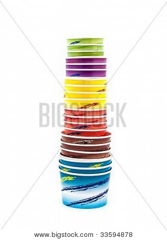 Ice Cream Paper Cup Piled