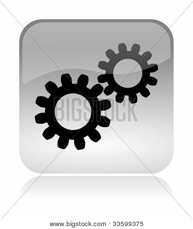 Gears Web Interface Icon