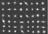 The Light Of A Star. Star Glow On A Transparent Background Explodes On A Transparent Background. Whi poster