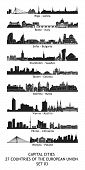 skyline of the capital cities of the european union - set 03