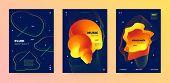 Electronic Music Movement. Dj Poster. Bright Futuristic Banner. Vibrant 3d Fluid Lines. Music Festiv poster