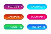 Set Of Trendy Action Call Button For Web, Mobile App. Template Navigation Button Menu. Gradient Icon poster